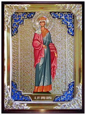 Икона в ризе - Святая мученица Валерия в магазине церковной утвари