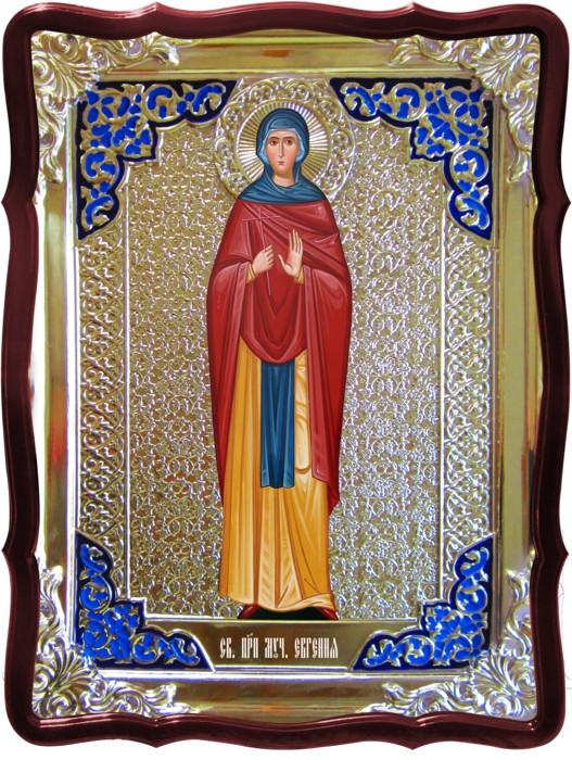 Икона в ризе - Святая мученица Евгения римская в православном магазине