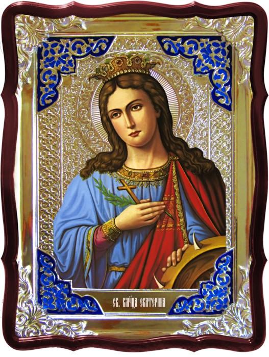 Икона в ризе - Святая мученица Екатерина  заказать в церковной лавке