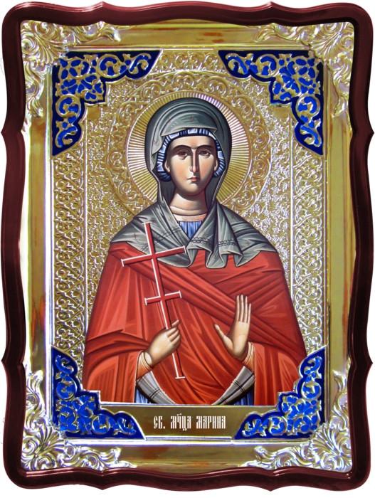 Икона в ризе - Святая мученица Марина заказать в церковной лавке