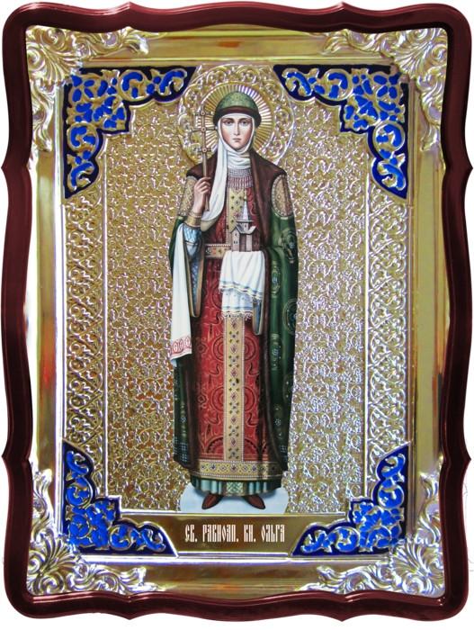 Икона в ризе - Святая мученица Ольга в магазине церковной утвари