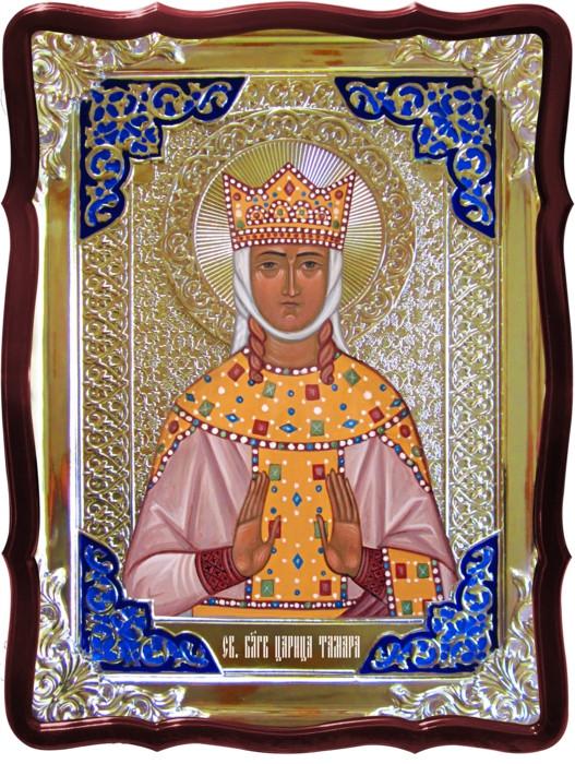 Икона в ризе - Святая мученица Тамара