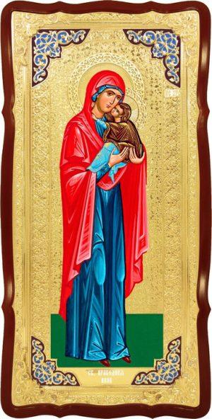 Храмовая икона в ризе Святая Анна праведная в церковной лавке