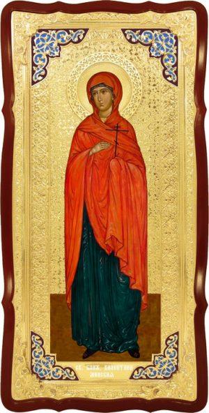 Большая икона в ризе Святая Валентина в церковной лавке