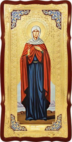 Большая икона в ризе Святая Виктория Ефесская в церковной лавке