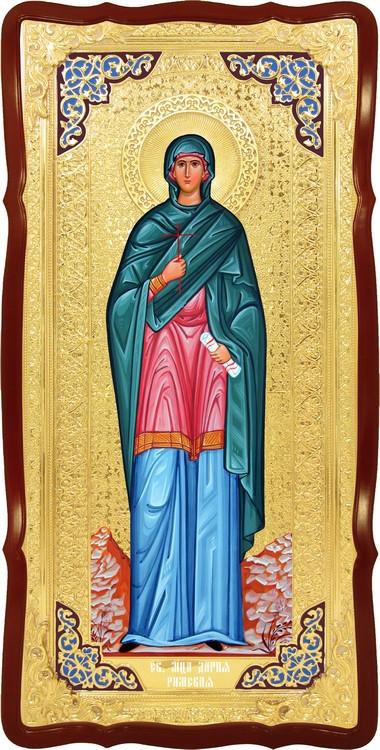 Храмовая большая икона в ризе Святая Дарья Римская в церковной лавке