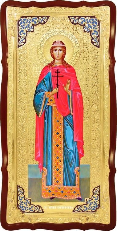 Храмовая икона в ризе Святая Ирина Коринфская в православном магазине