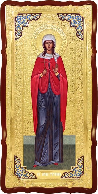 Храмовая икона в ризе Святая Татьяна в церковной лавке