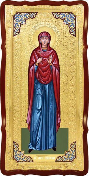 Икона большого размера в ризе Святая Христина в церковной лавке