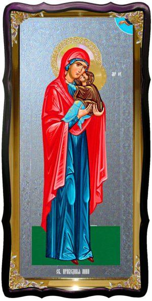 Икона храмовая под серебро Святая Анна праведная в церковной лавке