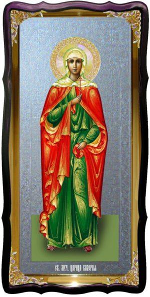 Икона храмовая под серебро Святая Валерия в православном интернет магазине