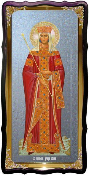 Икона с фоном под серебро Святая Елена в церковной лавке