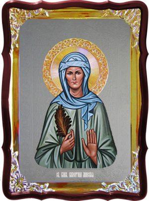 Икона с фоном под серебро Святая Валентина минская  в православном магазине