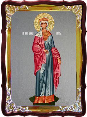 Храмовая икона под серебро Святая Валерия ростовая в церковной лавке