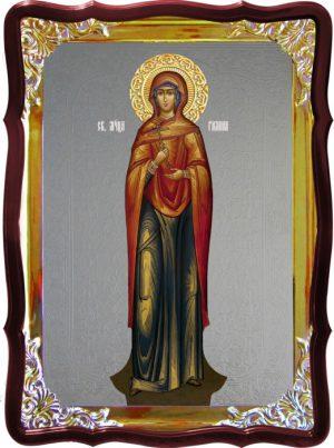 Икона с фоном под серебро Святая Галина ростовая в церковной лавке