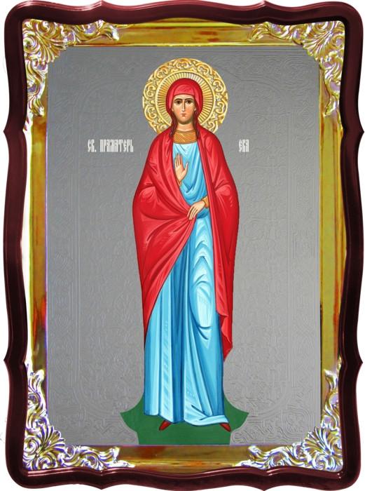 Икона с фоном под серебро Святая Ева праматерь рост. в православном магазине