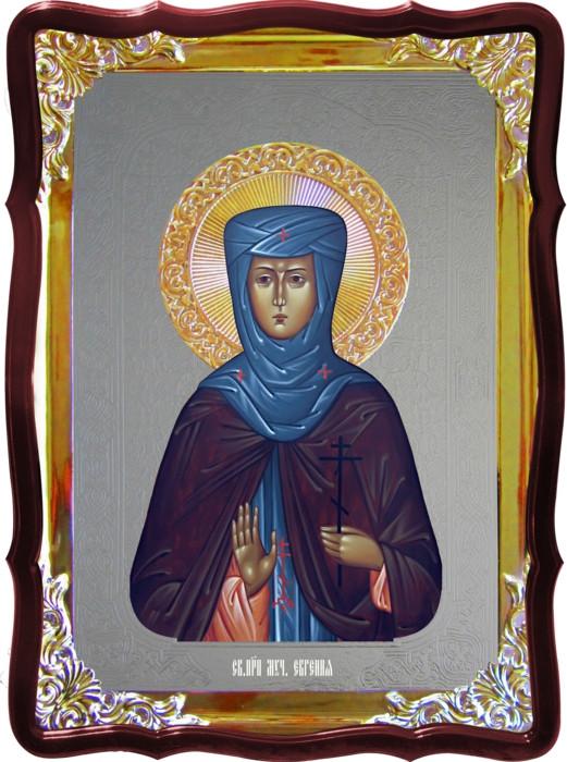 Икона под серебро Святая Евгения  в православном интернет магазине