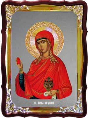 Икона под серебро Святая Мария Магдалина  в церковной лавке