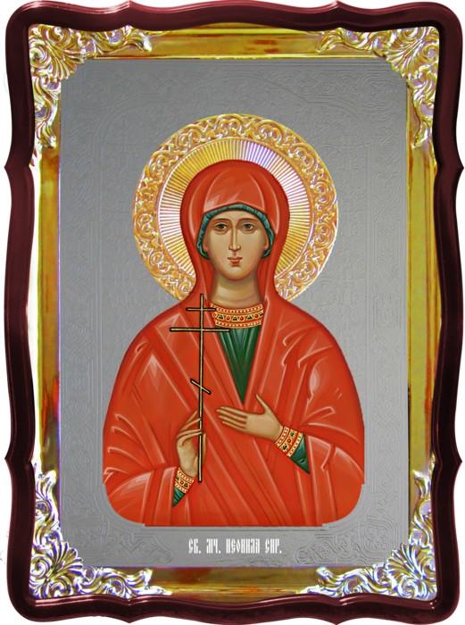 Храмовая икона под серебро Святая Неонила Сирийская  в православном магазине