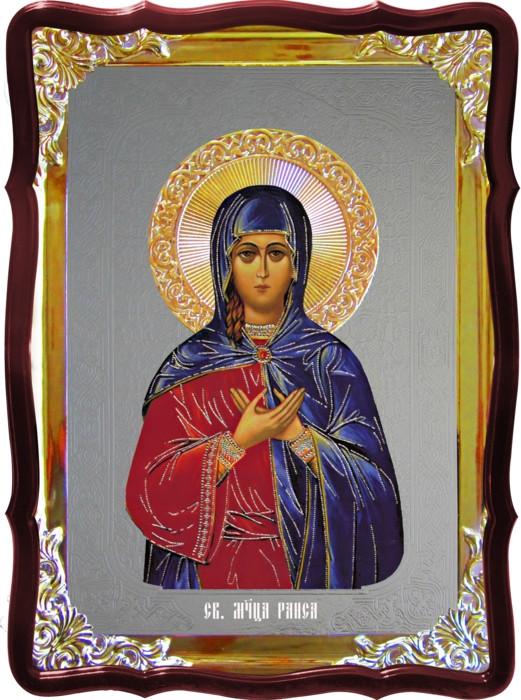 Икона под серебро Святая Раиса  в православном интернет магазине