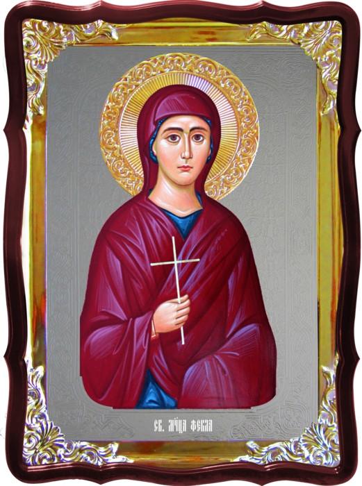 Икона под серебро Святая Фекла  в православном интернет магазине