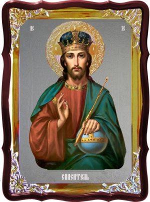 Изображение Иисуса на иконе - Спас в митре