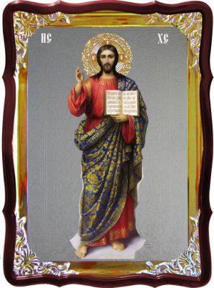 Православная икона Спаситель Христос (ростовая)