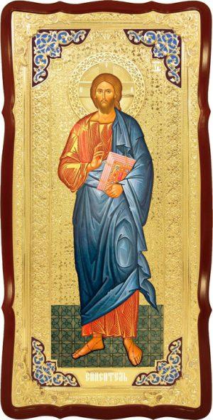 Фото Иисуса христа на иконе -  Спаситель
