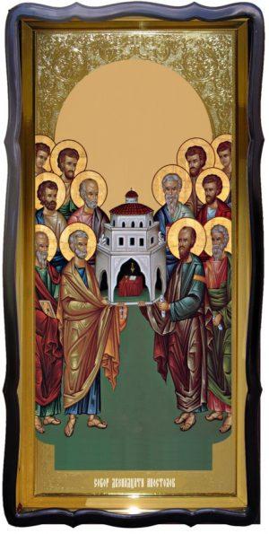 Храмовая икона ростовая Собор 12 апостолов