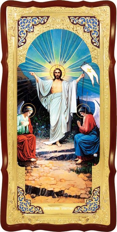 Православная икона Воскресение Христово хоругва