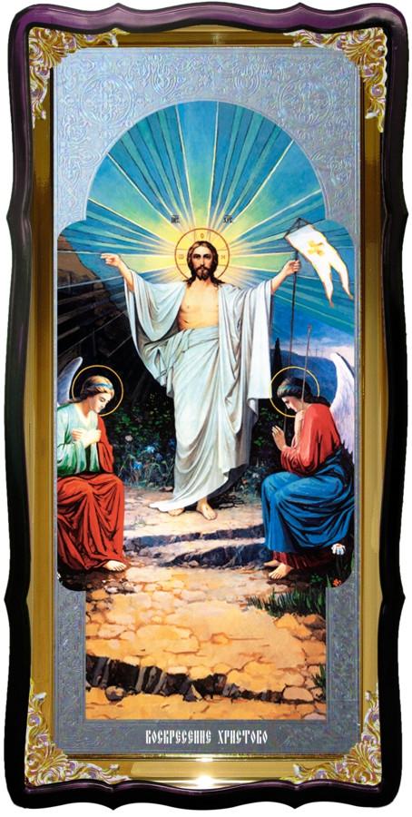 Православный магазин предлагает икону Воскресение Христово (хоругва)