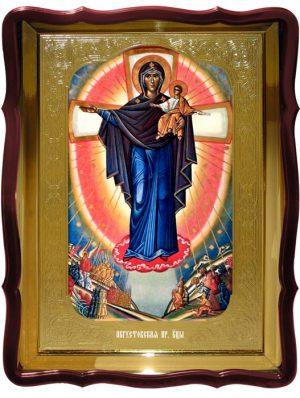 Икона Августовская - явление Пресвятой Богородицы на войне
