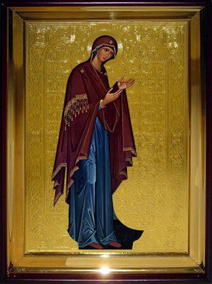 Православная икона на заказ Богородица (Деисусный ряд)