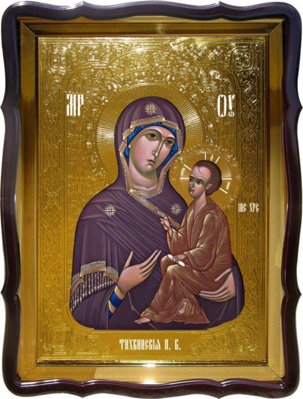 Православная икона на заказ Тихвинская Пресвятой Богородицы