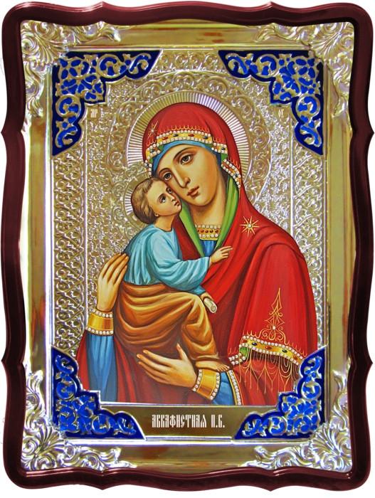 Храмовая икона Акафистная Пресвятой Богородицы