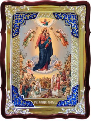 Православная икона на заказ Всех скорбящих радость Пресвятой Богородицы