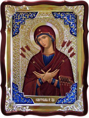 Икона Божией Матери храмовая Семистрельная
