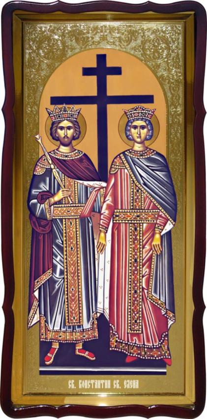 Святые Константин и Елена ростовая икона для церкви