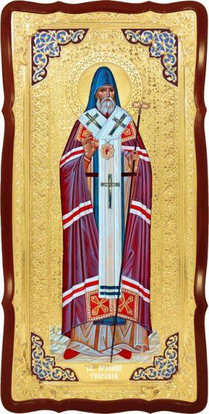 Настенная ростовая икона Святой Арсений тверской