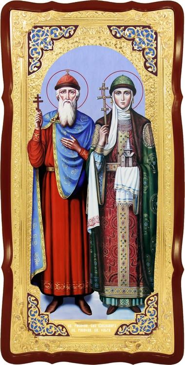 Ростовая икона Святые Владимир и Ольга