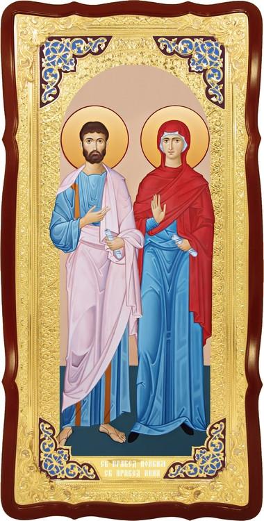 Икона для иконостаса Святые Иоаким и Анна