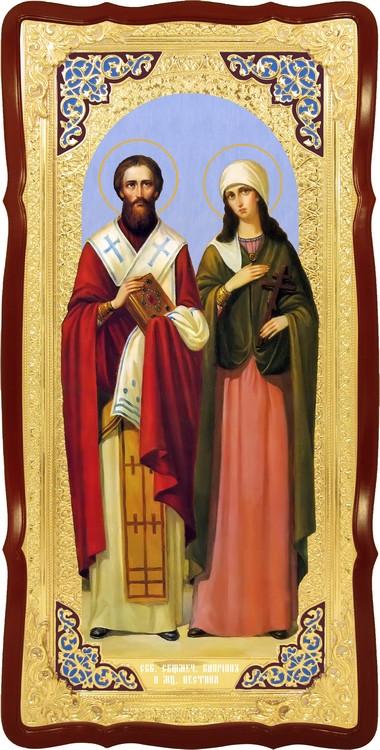Ростовая икона Святые Киприан и Устина