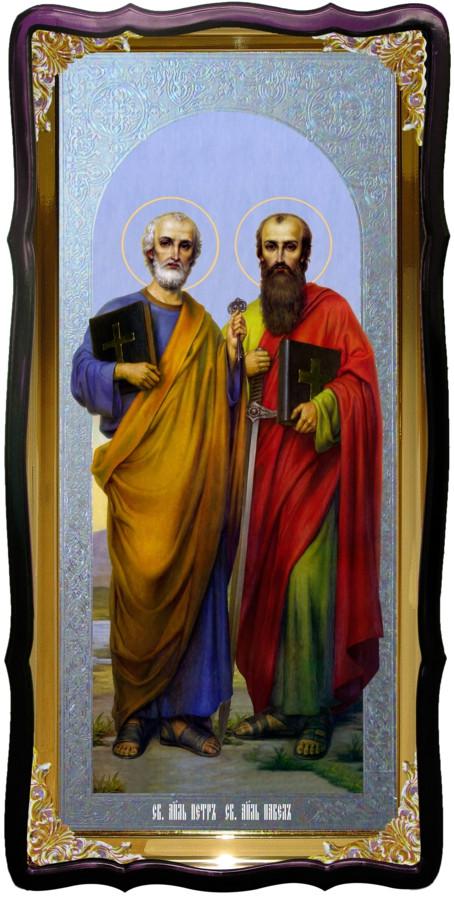 Святые Петр и Павел храмовая настенная икона