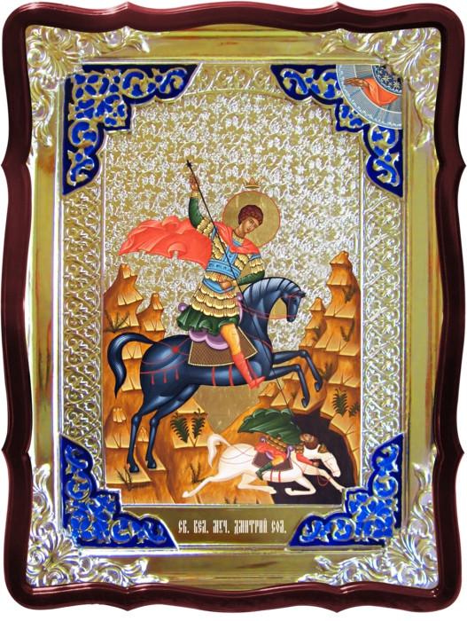 Православные иконы и их значение для людей - Святой Дмитрий Солунский на коне