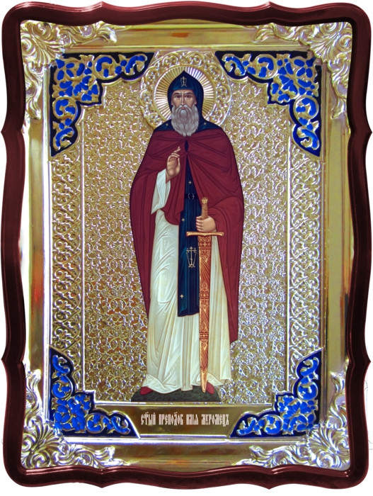Изображение святых на церковных иконах: Святой Илья Муромец ростовая