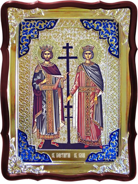 Храмовые иконы на заказ -  Святой Константин и Елена
