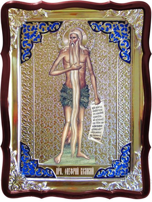 Иконы святых купить в лавке на заказ -  Святой Онуфрий