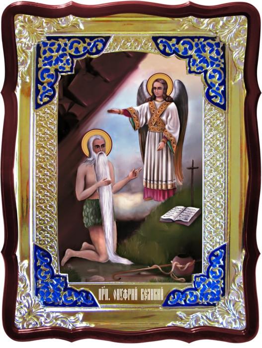 Иконы святых с описанием в лавке -  Святой Онуфрий