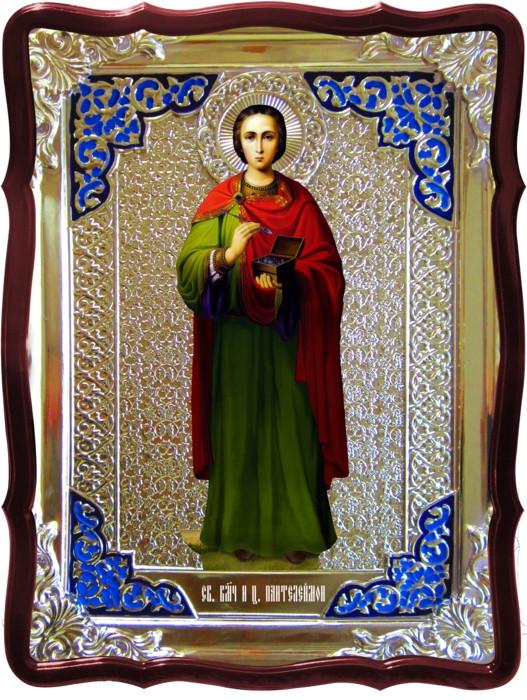 Иконы святых целителей Святой Пантелеймон рост.