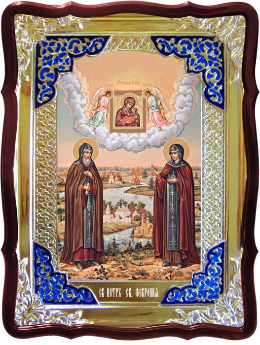 Лики святых на иконах в каталоге -  Св. Петр и Феврония